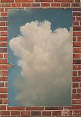 »Wolkenmauer (Plakat)« / Öl/Lw. / 90x130cm / 2005 / 1100,- €