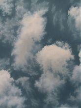 »Wolken« / Öl/Lw. / 90x120 / 2001 / 1500,- €