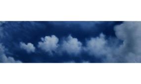 »Wolkendunst (Puffer)« / Öl/Tuch / 30x100cm / 2013 / 490,- €