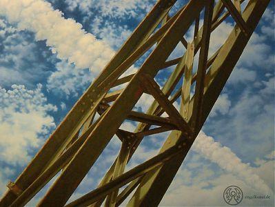»Himmelskreuz (Schwebebahnstütze)« / Öl/Lw. / 100x150cm / 2009 / 1900,- €